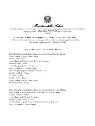 aziende di allevamento ittico riconosciute in italia