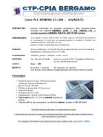 Corso PLC SIEMENS S7-1200