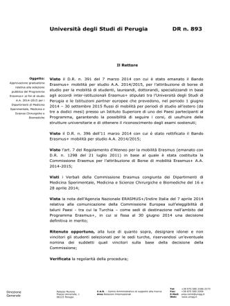 D.R. n. 893 - Università degli Studi di Perugia