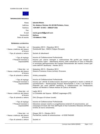 CV Gerardi Maria - Gazzetta Amministrativa
