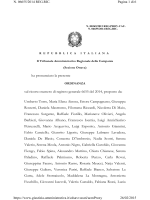 Ordinanza TAR Campania n. 269/2015