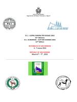 Programma Coppa Europa 2015 - SIPS Società Italiana Prosegugio