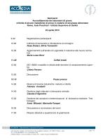 Programma Seminario ACCREDIA ISS