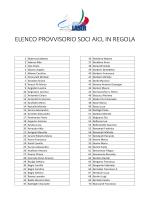 ELENCO PROVVISORIO SOCI AICL IN REGOLA