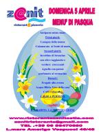 Menu Pasqua - Ristorante Zenit Ostia