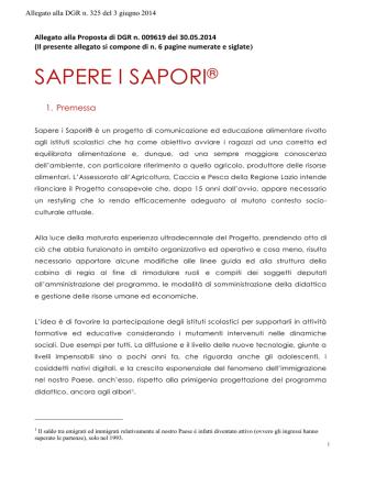 1 DGR 325 del 03 06 2014 - Programma Sapere i