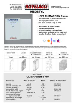 Depliant Climaform 9 mm