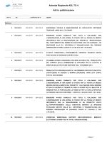 Azienda Regionale ASL TO 4 Atti in pubblicazione