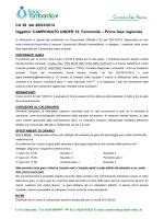 CAMPIONATO UNDER 16 Femminile – Prima fase regionale
