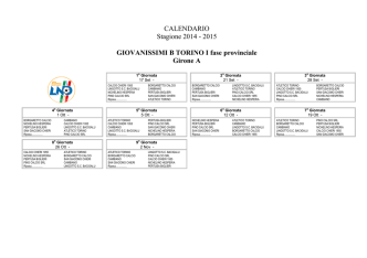 calendario campionato giovanissimi f.b. girone c