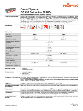 Creteo Special CC 430 Betoncino 30 MPa