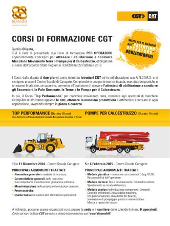 CORSI DI FORMAZIONE CGT