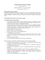 Programma di Ragioneria generale e applicata I