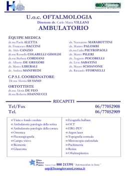 Oftalmologia Ambulatorio