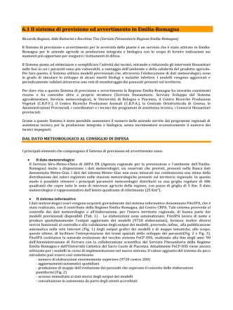 6.1 Il Sistema di previsione e avvertimento in Emilia