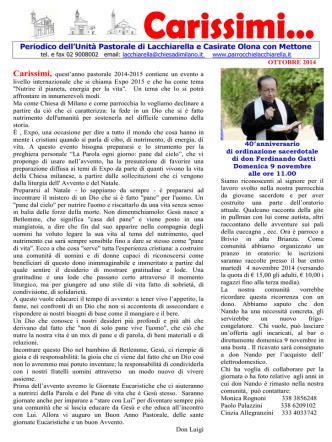 Avvento 2014 - Unità Pastorale | di Lacchiarella e Casirate Olona