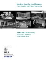 ATHENS Course 2014 Modern Interior Architecture