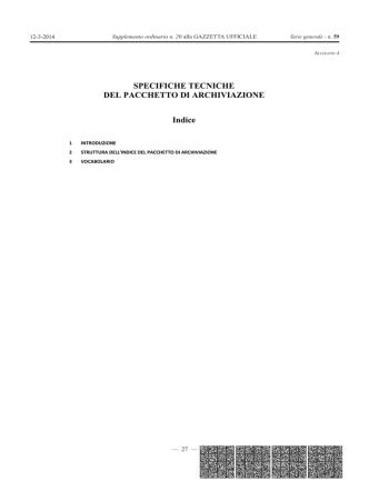 Conservazione sostitutiva - Allegato 4 - Pacchetto di