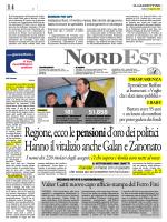 REGIONE VENETO ECCO PENSIONI D ORO E NOMI DEI 226