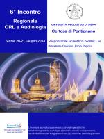 6° Incontro Regionale ORL e Audiologia