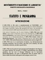 """""""MFL – PSN"""". - Movimento Fascismo e Libertà"""