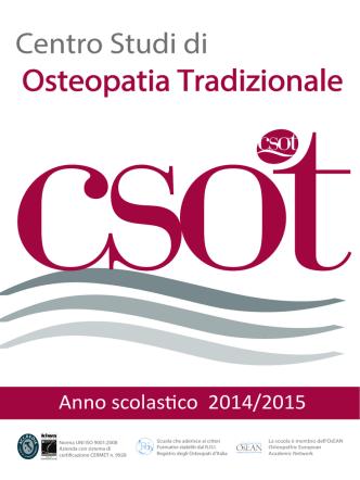dépliant - Centro Studi di Osteopatia Tradizionale srl
