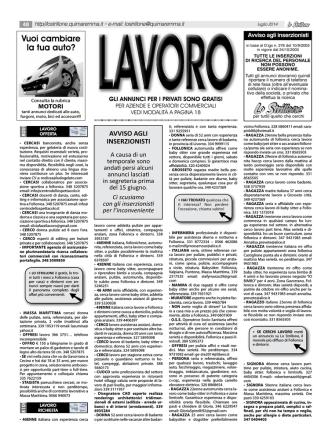annunci LAVORO - 1ClickAnnunci