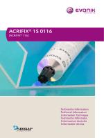 ACRIFIX® 1S 0116 - Röhm Schweiz AG