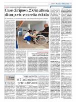 ALESSANDRIA Case di riposo, 250 in attesa con retta ridotta