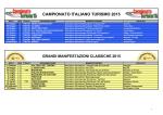 Calendario Turistico Nazionale F.M.I. 2015