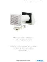 di ventilazione ad incasso con recupero del calore REW