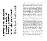 1 . Introduzione alla lettura geostorica: obiettivi, metod i e strum enti