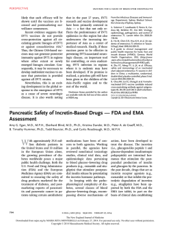 Pancreatic Safety of Incretin-Based Drugs — FDA and EMA