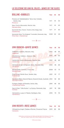 bolline-bubbles vini rosati-rose wines vini bianchi
