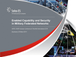 Enabled Capability and Security in Military Federated Networks