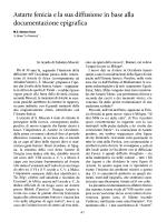 Astarte fenicia e la sua diffusione in base alla documentazione