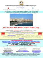 3 GLOBAL CONGRESS OF IAN DONALD SCHOOLS