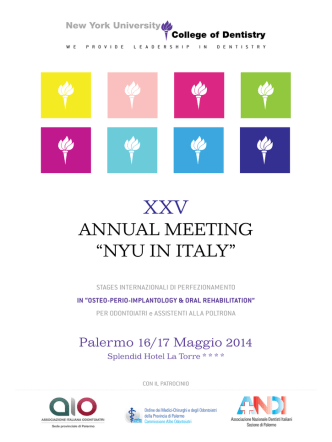 "ANNUAL MEETING ""NYU IN ITALY"""