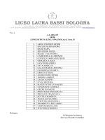 CLASSI PRIME - Liceo Laura Bassi