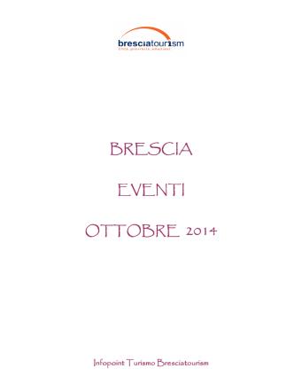 Calendario Eventi Ottobre 2014