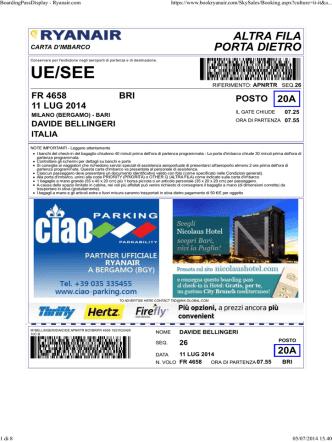 BoardingPassDisplay - Ryanair.com