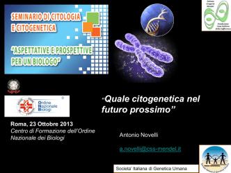 Antonio Novelli - Ordine Nazionale dei Biologi