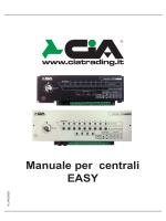 Manuale per centrali EASY