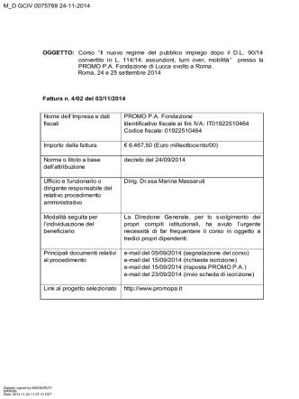 Corso presso Promo P.A. - Ministero della Difesa
