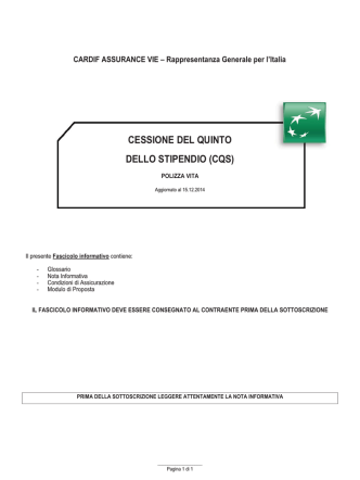 CARDIF CQS - DOCUMENTI