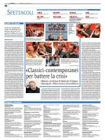 «Classici-contemporanei per battere la crisi»