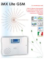 iMX Lite GSM.cdr - Centro Sicurezza Italia