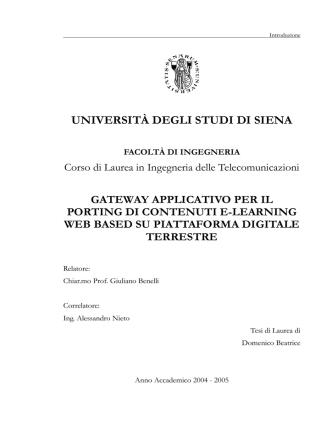 Beatrice Domenico - Università degli Studi di Siena