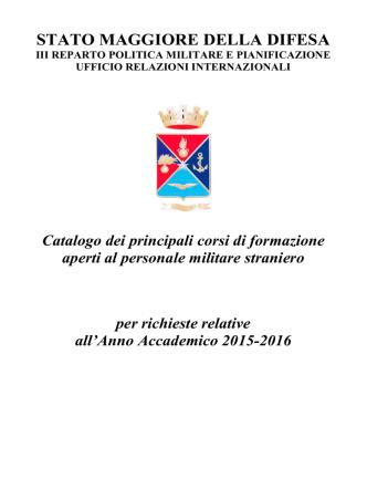Copertina e Sommario - Ministero della Difesa
