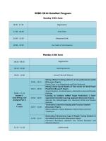 SEBD 2014 Detailed Program
